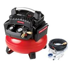 Craftsman 6 Gallon 1.1 HP Oil-Free Pancake Compressor 150 Max PSI with Hose & Ac