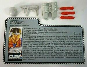 GI JOE COBRA VINTAGE WEAPONS FILE CARD LOT 1990 TOPSIDE NAVY AUTHENTIC