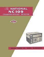 National NC-109 NC109 Radio Receiver Manual