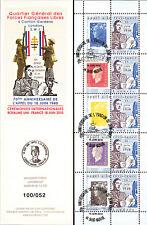 """DG10-9C3 Carnet Porte-timbres """"70 ans Appel 18 Juin de Gaulle"""" (St-Nazaire) 2010"""