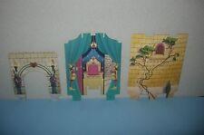 1994 Milton Bradley Enchanted Palace Cardboard Entranceway & Castle Walls Parts