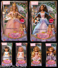 Anneliese Erika Barbie Doll & 4 Kelly Dolls Princess and the Pauper Lot 6 VG