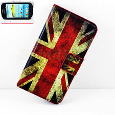 Women Men Flip Stand Card Leather Wallet Cover Case For Samsung Galaxy S4 S5 S3
