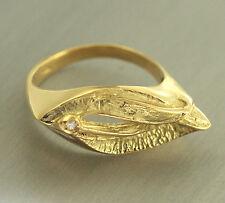 Exclusiver Goldring 750 mit Brillant - Ring Gold massiv  Damenring Brillantring