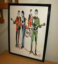 The Beatles, John Lennon Paul McCartney George Harrison Ringo Starr POSTER w/COA