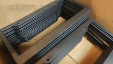 """LOT OF 25 BLANK BLACK PLASTIC 25 pieces License Plate Frame FRAMES WITH TABS 1"""""""