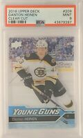 2016 2017 UPPER DECK Danton Heinen CLEAR CUT ACETATE YOUNG GUNS ROOKIE RC PSA 9
