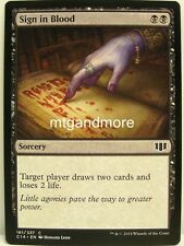 Magic Commander 2014 - 4x Sign in Blood
