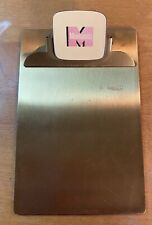 Vintage Monsanto Brass Clipboard Clip Board Advertising 4 x 6 Rare