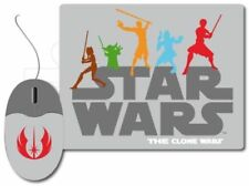 STAR WARS - Clone Wars Mouse & Pad Set (Wesco) #NEW