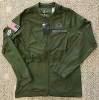 Nike Men's Salute to Service Full Zip Jacket Size Medium M NFL Green Bay Packers