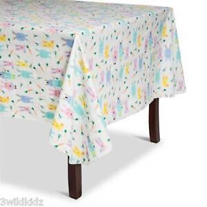 Easter Bunnies PEVA Tablecloth - White