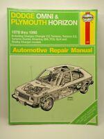 Haynes Dodge Omni Plymouth Horizon 1978 - 1990 Automotive Repair Manual