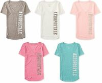 AERO Aeropostale boyfriend V-neck Graphic T-Shirt Top Tee XS,S,M,L,XL,2XL NEW!