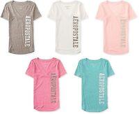 AERO Aeropostale boyfriend V-neck Graphic T-Shirt Top Tee XS,S,M,L,XL,2XL NEW!
