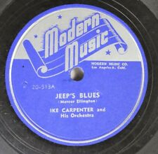 Hear! Jazz 78 Ike Capenter - Jeep'S Blues / Things Ain'T What They Used To Be On