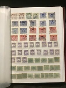 Czechoslovakia postage due stamps