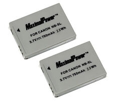 TWO BATTERIES for CANON NB-5L NB5L PowerShot SD870 SD880 SD890 IS BATTERY X 2