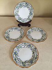 """Royal Albert HEATHER BELL BLUE Bread & Butter Plates 6"""" Set Of 4! ENGLAND!"""