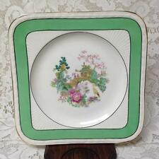 Vintage, Rare, Myott, England,Variant, Green Trim Gaudy Blue Willow, 8in Plate