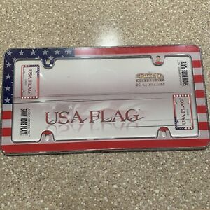 American Flag America US USA Patriotic Freedom License Plate Frame