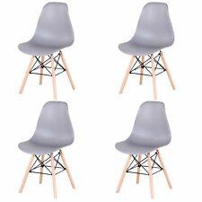 Pack 4 sillas de comedor Gris silla diseño nórdico retro estilo HL