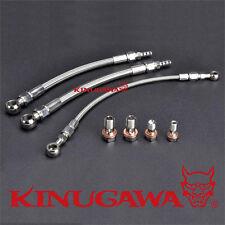Kinugawa Turbo Oil Water Line Kit Mitsubishi 4G63T EVO 4~9  w/ Garrett GT3076R