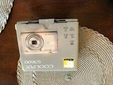 Nikon COOLPIX S3600 20.1MP Digital Camera - Silver