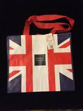 Marks & Spencer London Union Jack Tote Bag M&S Flag Great Britain New Woven UK