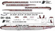 Kar-Air Douglas DC-6 airliner decals for Minicraft 1/144 kits