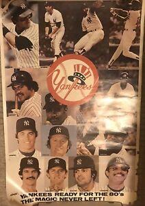 New York Yankees Team 1980's  Poster Original