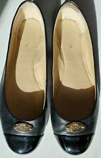 Coach Chelsea Black Matte Ballet Flats Round Patent Leather Toe Size 7.5M