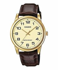 CASIO MTP-V001GL-9B BROWN LEATHER WATCH FOR MEN - COD + FREE SHIPPING