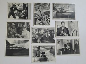 SEAN CONNERY  JAMES BOND SECRET AGENT 007 - LOT OF 9 DIFF. ORG. T. CARDS (1965)