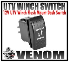 VENOM UNIVERSAL UTV WINCH FLUSH MOUNT DASH ROCKER SWITCH GENUINE FIT