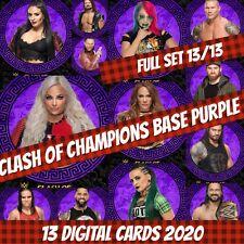 Topps Slam 20 WWE Full Set (13) Clash Of Champions Purple 2020 Digital Card