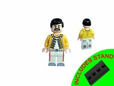 MUSICAL LEGEND - FREDDIE MERCURY MINIFIGURE WITH  STAND
