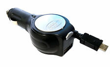 Retractable Fast Car Charger with USB Port for Micro USB Samsung Android Phones