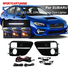 For 2015-17 Subaru WRX STI Switchback LED Sequential Turn Signal Lamp DRL Lights