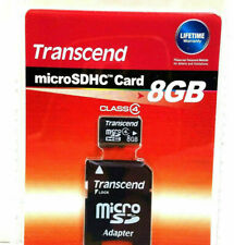Transcend 8GB Memory Card microSDHC Class 4 With Adapter - Brand New Sealed