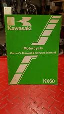 1982 kawasaki kx 60 motorcycle owner's manual and service manual #45