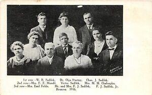 H60/ Wilber Nebraska Postcard c1916 Reunion Stastny Sadilek Mundil Chaloupka 129