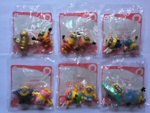 McDonald's 2021 Minions - Rise of Gru Lot, including one gold (new in packaging)