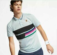 Nike Dry Court Premier Tennis Classic Logo Tee Mens T-Shirt Blue Size S Rrp $110