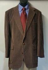 LEVI'S MENSWEAR Dark Brown Corduroy Leather Elbow Patch Blazer Sportcoat Sz 42R