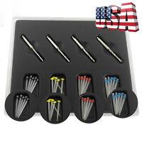 NEW 1 Box Dental Fiber Set 20 pcs Fiber Post & 4 Drills Dentist Product Hot Sale