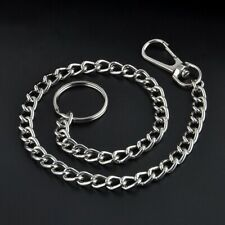 Extra Long Metal Keyring Keychain Silver Chain Hipster Key Wallet Belt Ring Clip