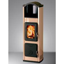 Thorma Design Bergamo Cappuccino emailliert mit 5 kW Dauerbrandofen, BImSchV 2