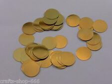 100 Kreise Streudeko  Streuelemente Basteln Kartengestaltung Rund  Gold  ca:10mm