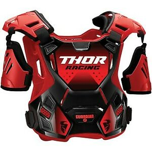 Youth Sizes Thor Guardian Roost Red/Black Chest Protector Motocross Offroad